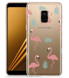 Samsung Galaxy A8 2018 Hoesje Flamingo Pattern