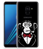 Samsung Galaxy A8 2018 Hoesje Chimp Smoking