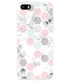 iPhone 5/5S/SE Hoesje Marmer Honeycomb