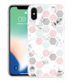 Apple iPhone X Hoesje Marmer Honeycomb