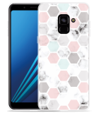 Samsung Galaxy A8 2018 Hoesje Marmer Honeycomb
