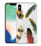Apple iPhone X Hoesje Feathers World