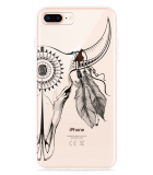 iPhone 8 Plus Hoesje Boho Buffalo Skull