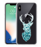 Apple iPhone Xs Hoesje Art Deco Deer
