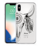 Apple iPhone Xs Hoesje Boho Buffalo Skull