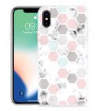 Apple iPhone Xs Hoesje Marmer Honeycomb