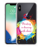 Apple iPhone Xs Hoesje Painting