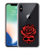 Apple iPhone Xs Hoesje Red Skull