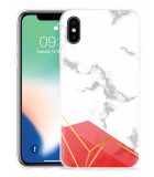 Apple iPhone Xs Hoesje Trendy Marmer