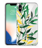 Apple iPhone Xs Hoesje Watercolor Flowers
