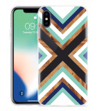 Apple iPhone Xs Hoesje Wood Art