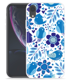 Apple iPhone Xr Hoesje Blue Bird and Flowers