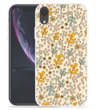 Apple iPhone Xr Hoesje Doodle Flower Pattern