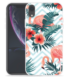 Apple iPhone Xr Hoesje Flamingo Flowers