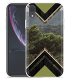 Apple iPhone Xr Hoesje Forest wood
