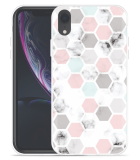 Apple iPhone Xr Hoesje Marmer Honeycomb
