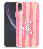 Apple iPhone Xr Hoesje Say Hello to Summer