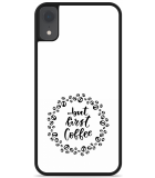 iPhone Xr Hardcase hoesje But first coffee