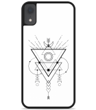 iPhone Xr Hardcase hoesje Abstract Moon Black