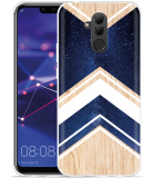 Huawei Mate 20 Lite Hoesje Space wood