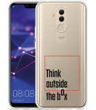 Huawei Mate 20 Lite Hoesje Think outside the Box