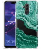 Huawei Mate 20 Lite Hoesje Turquoise Marble Art