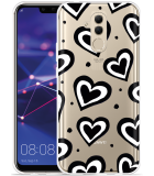 Huawei Mate 20 Lite Hoesje Watercolor Hearts
