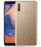 Galaxy A7 2018 Hoesje Triangles