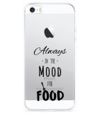 iPhone 5/5S/SE Hoesje Mood for Food Black