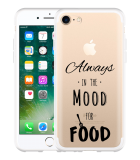 iPhone 7 Hoesje Mood for Food Black