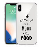 Apple iPhone Xs Hoesje Mood for Food Black