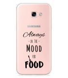 Galaxy A5 (2017) Hoesje Mood for Food Black