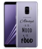 Samsung Galaxy A8 2018 Hoesje Mood for Food Black