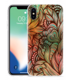 Apple iPhone Xs Hoesje Abstract colorful