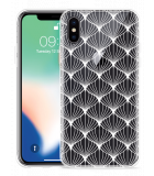 Apple iPhone Xs Hoesje White Abstract Pattern