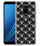 Samsung Galaxy A8 2018 Hoesje White Abstract Pattern