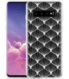 Galaxy S10 Hoesje White Abstract Pattern