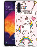 Galaxy A50 Hoesje Unicorn Time