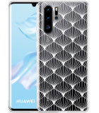 Huawei P30 Pro Hoesje White Abstract Pattern