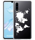 Huawei P30 Hoesje World Map