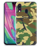 Galaxy A40 Hoesje Army Camouflage Green