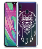 Galaxy A40 Hoesje Dream Owl Mandala White