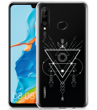 Huawei P30 Lite Hoesje Abstract Moon White
