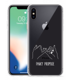 Apple iPhone Xs Hoesje Pinky Promise