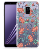 Samsung Galaxy A8 2018 Hoesje Poppy Roses
