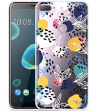 Desire 12 Plus Hoesje Abstract Flowers