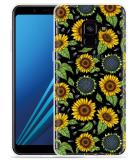 Samsung Galaxy A8 2018 Hoesje Sunflowers