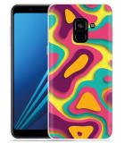 Samsung Galaxy A8 2018 Hoesje Retro Colors