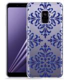 Samsung Galaxy A8 2018 Hoesje Delfts Blauw