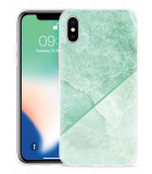 Apple iPhone X Hoesje Green Marble
